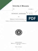 Economic Addresses 1918