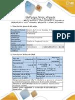 Guía de Actividades y Rúbrica de Evaluación - Fase 2 - Identificar Problemáticas en Su Contexto y Diligenciar La Matriz de Análisis