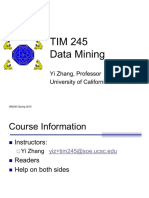 Introduction to TIM 245