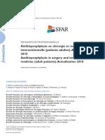 2 AFAR Antibioprophylaxie en Chirurgie Et Medecine Interventionnelle
