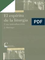 El Espiritu de La Liturgia Ratzinger (Libro)