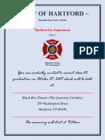 Hartford Fire Department Recruit Class 23 Graduation