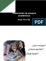 Presentación ensayos académicos