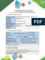 Guía de Actividades y Rúbrica de Evaluación Paso 1. Desarrollar Actividad de Reconocimiento