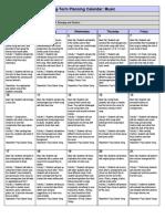 Long Term Planning Calendar