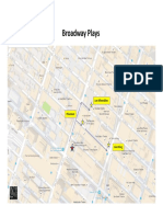 Broadway Plays Map