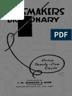 Dressmakers Dictionary 1916