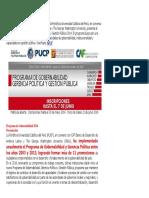 Programa de Gobernabilidad 2014 ANUAL
