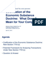 DTT_Codification of the Economic Substance_May2010