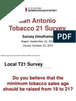 Smoking survey results