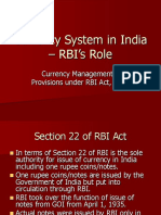 Currency System in India RBI Role (1)