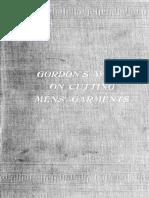 Gordons Work on Cutting Mens Garments 1910