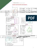 formulario de geometría del espacio