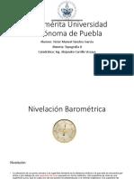 Nivelaciòn Baromètrica