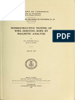 NDT of Wire Rope by Magnetic Analysis (Bereau Sandards)