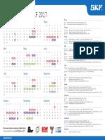 Calendario de Cursos SKF Peru 2017