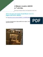 Driver Sound Blaster Creative Sb0220 Emu10k1 Win 7 x64 Bits