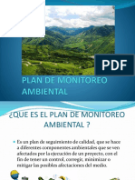 Plan de monitoreo ambiental