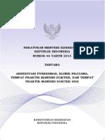 7-PERMENKES NO 46 TAHUN 2015 TENTANG AKREDITASI PUSKESMAS, KLINIK PRATAMA DST.pdf