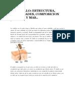 El Cabello, Estructura y Su Composicion
