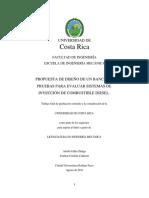 Diseño de banco de pruebas biodiesel