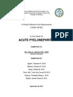 COMPLETE CS- Acute Pyelonephritis