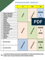 Cronograma Pre Matricula Ingresantes 2017-1