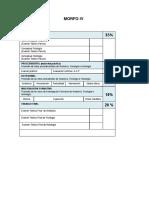 Porcentajes Morfo II III y IV
