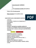 Autoevaluación  (modelo)