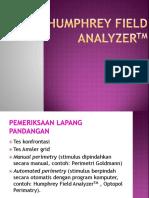Humphrey Field AnalyzerTM