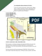 Formaciones Estratigráficas Hidrocarburiferas de Bolivia1111