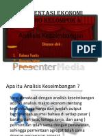 Presentasi Ekonomi Makro Analisis Keseimbangan
