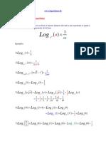 propiedad de logaritmos - Octava
