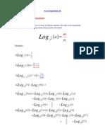propiedad de logaritmos - Novena