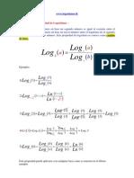 propiedad de logaritmos - Decimo Tercera