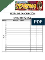 FICHA DE INSCRIPCIÓN - COREMA 2017