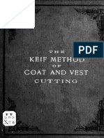 The Keif Method of Cutting Coats and Vests 1899