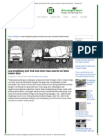 Cara Menghitung Cycle Time Truck Mixer Mass Concrete Cor Beton Volume Besar - Ilmusipil