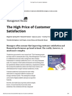 The High Price of Customer Satisfaction