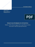 What Has Worked in Investing