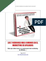 Los 7 Herrores Mas Comunes en El Marketing de Afiliados