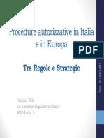 Procedure autorizzative in Italia e in Europa - UNIPV.pdf
