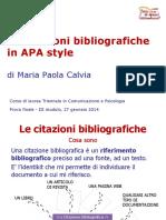 Apa - Citazione Bibliografiche
