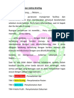 Contoh Penyampaian Safety Briefing