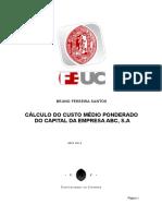 Bruno Ferreira Santos (2002017797) - Cálculo de Custo Médio Ponderado Do Capital Da Empresa ABC, S.a. (1)