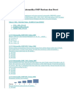 Bank Soal UN Matematika SMP Barisan Dan Deret Bilangan