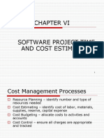 CHAPTER VI [SW Project Cost Estimation]
