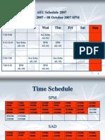 AEU Schedule