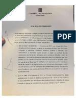 Informe de los letrados del Parlament sobre la resolución de JxSí y la CUP