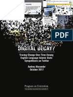 Digital Decay - Tracing Change Over Time Among English-Language Islamic State Sympathizers on Twitter